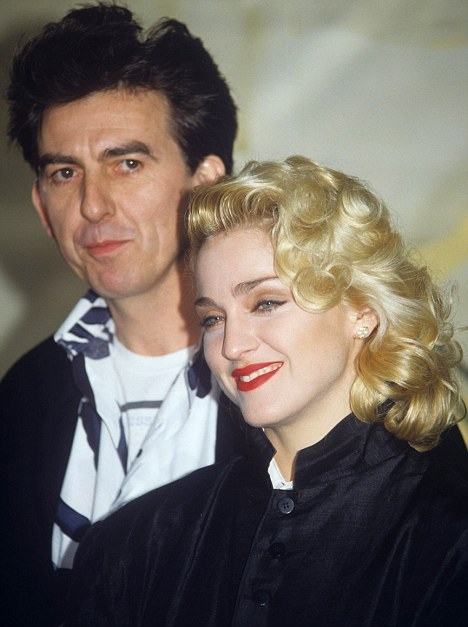 Ladies man: George Harrison with Madonna in 1986 during a press conference for the film Shanghai Surprise