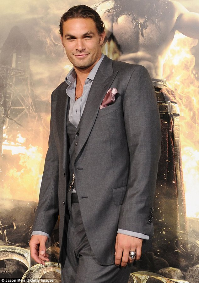 Covered up: Jason at the premiere of Conan the Barbarian