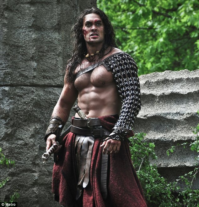 Muscle man: Jason built up his body playing the title role in Conan the Barbarian