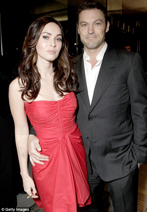 Hoping for a career comeback: Megan Fox with her husband Brian Austin Green