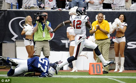 In trouble: Indianapolis Colts were soundly beaten by the Houston Texans