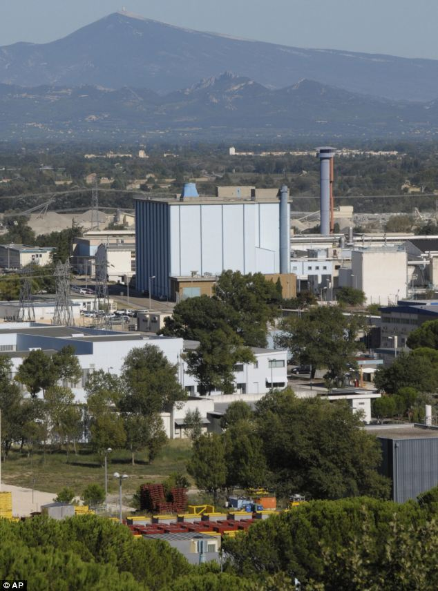 The nuclear site at Marcoule, sout0hern France, earlier today. There was a blast at the nuclear waste plant that killed one, seriously burned another and slightly injured three more, France's nuclear safety body said