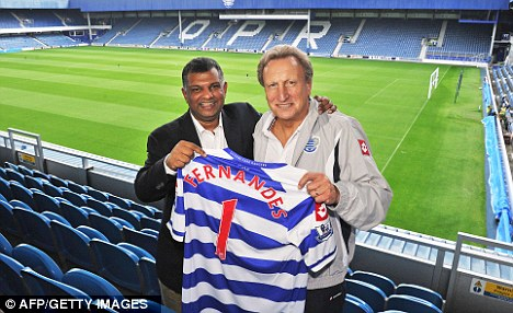 Big plans: Tony Fernandes has given his full backing to Neil Warnock