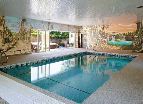 Palatial: The swimming pool at Summerhill complete with scenic landscapes