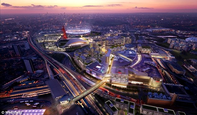 A city of shops: The shopping centre will provide the main route through to the Olympic site