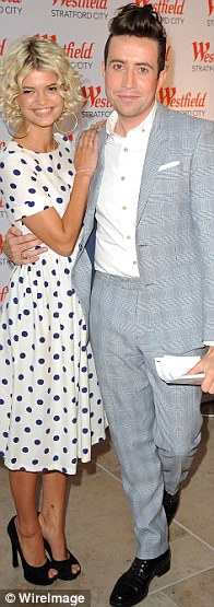 Star style: Pixie Geldof and Nick Grimshaw hosted the today's grand opening