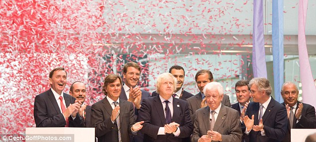 Congratulations: Boris Johnson applauded the efforts of the team who 'worked so hard' to get the shopping centre off the ground