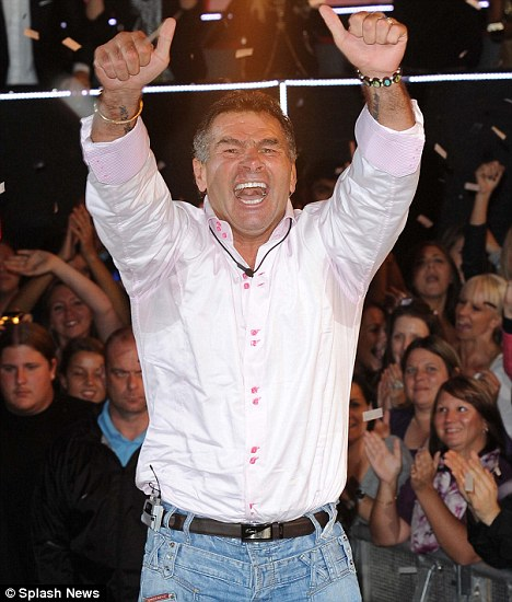 Victory: Paddy as he was crowned the winner of Celebrity Big Brother last week