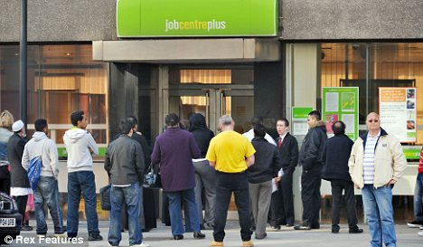 Job Centre: The number of unemployed people in Britain has risen to 2.51 million