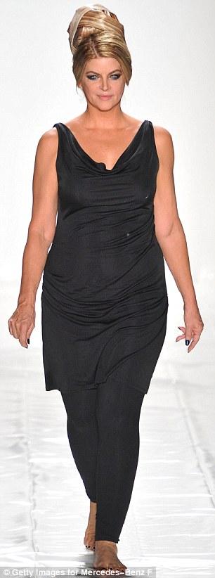 Transformation: Kirstie showed off her slimmed down figure during rehersal