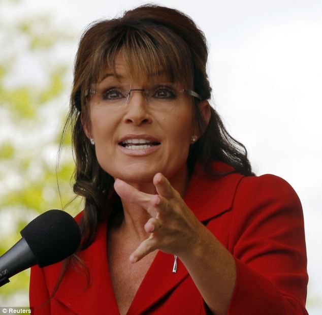 Styled: Palin in her more familiar look. A new book alleges she has taken cocaine in the past and had a six-month affair with a former business partner of her husband Todd