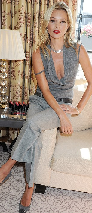 10-year partnership: Kate Moss was at Claridges today to launch her debut make-up collection for Rimmel