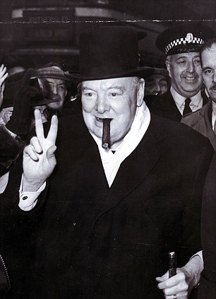 Spot the difference: The Winston Churchill portraits are extraordinarily detailed and even capture his famous Victory sign