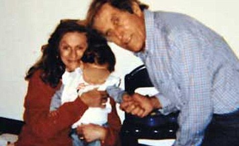 Family: Parents Luigi De Ambrosis, 70, and his wife Gabriella 57, pictured with Viola before a judge ruled their daughter be taken into care