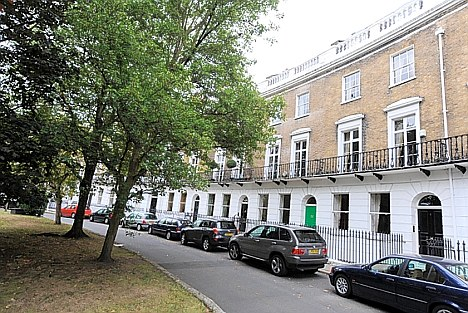 Crescent Grove, in Clapham, South London, where Chris Huhne has a home