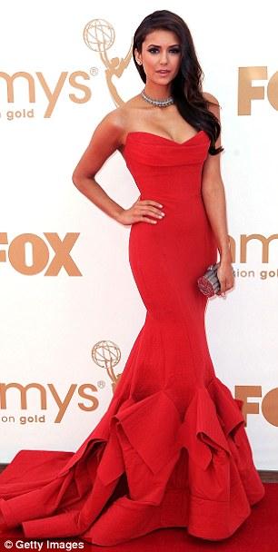 Red hot: Vampire Diaries star Nina Dobrev
