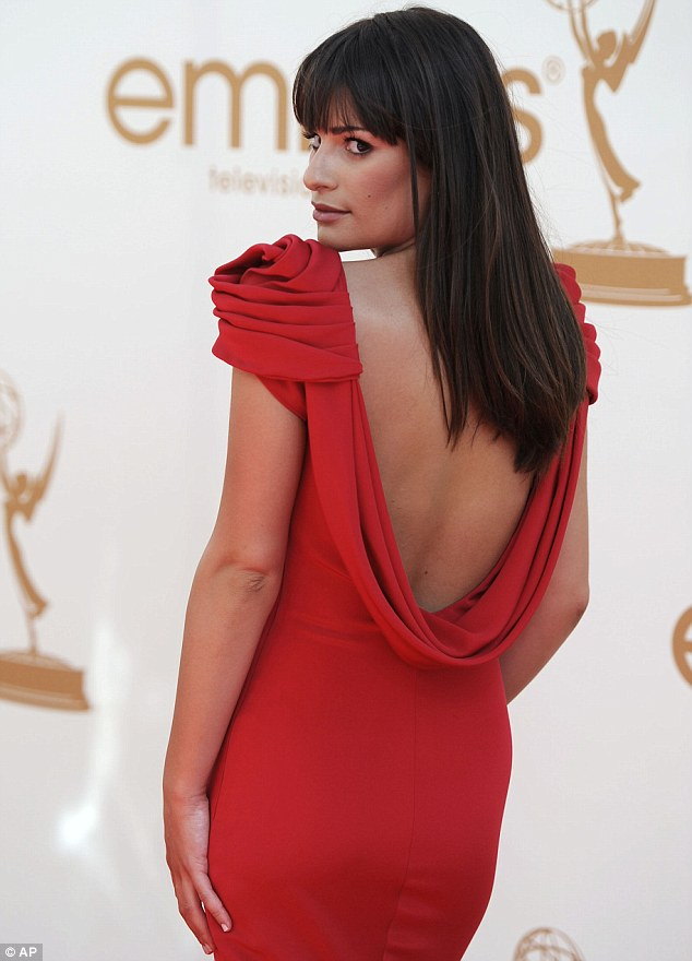 Bringing sexy back: Lea Michele set pulses racing at the Emmy Awards in Los Angeles tonight