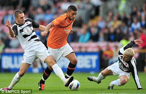 Welcome back: Hatem Ben Arfa (centre) is set to return for Newcastle