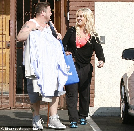 Support: Chaz is backed up by the whole Dancing with the Stars team, particularly his partner Lacey Schwimmer