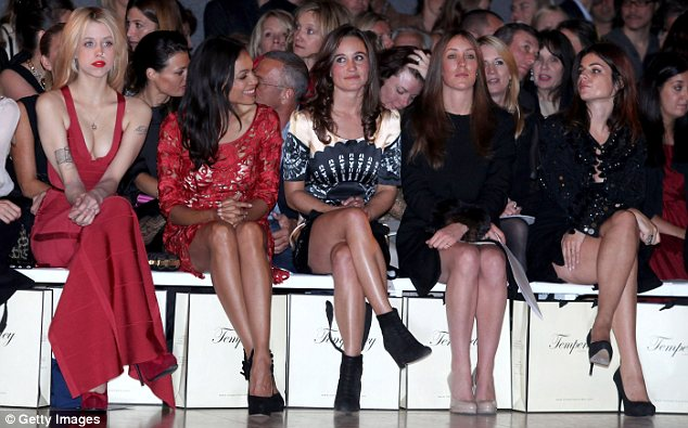 In 2011: Pippa sat front row at the Temperley show, but this year, after positioning herself as more of a food expert and writer, she has not attended any fashion shows