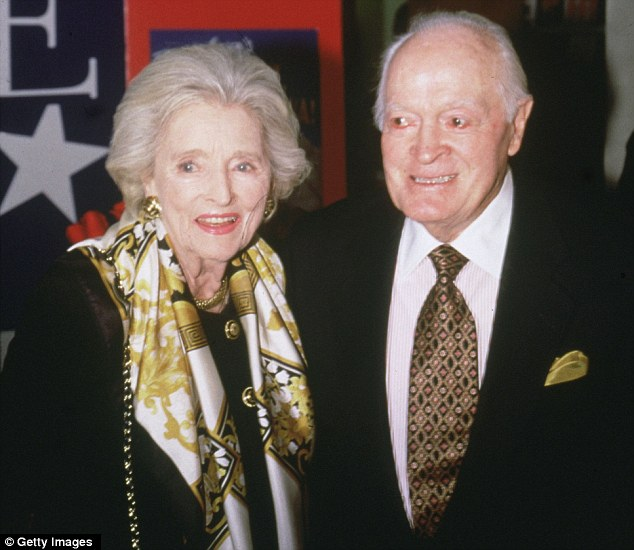 Enduring Love: Dolores Hope, pictured with husband of Bob in 2003, has died aged 102