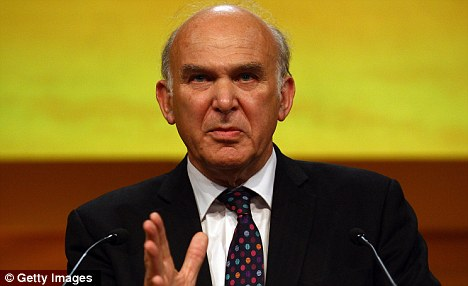 Reassurances: Business Secretary Vince Cable has said there is a flexibility built into the Government¿s cuts policy