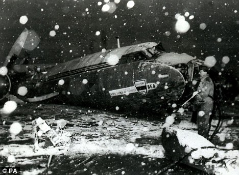Tragedy: The Munich air disaster of 1958, where 23 people died