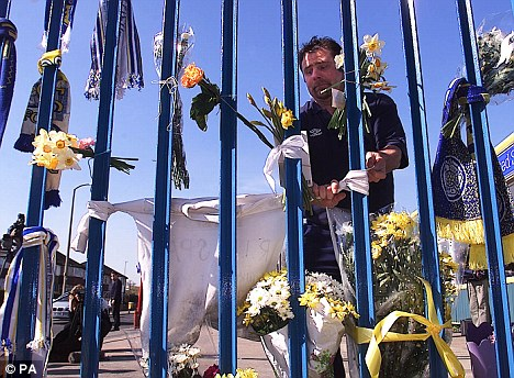 Tragedy: Tributes to the two Leeds fans who died in Istanbul 11 years ago