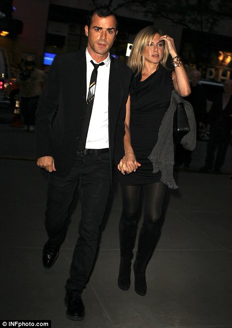 Cute couple: The pair were seen holding hands as they strolled away from dinner