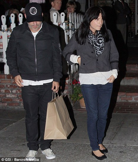 Taking time out: Selma Blair and her husband Jason Bleick head out for dinner in West Hollywood last night