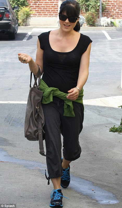 Uphill struggle: Selma Blair arrives at Pilates Bodywork in Beverly Hills today