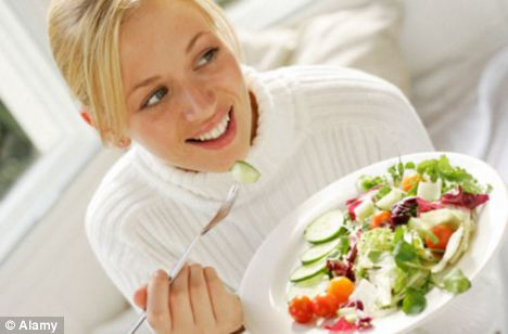 Healthy sight: Researchers claim if a salad is the first thing we see we are more likely to eat it