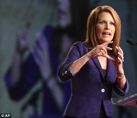 Humbled: Michele Bachmann finished eighth with 1.51 percent in the straw poll