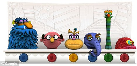 Interactive: The Google logo was replaced with digital puppets in honour of what would have been Jim Henson's 75th birthday