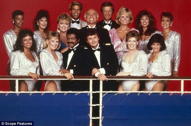 Rocking the love boat: Hatcher starred as mermaid Amy