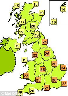 UK weather forecast for tomorrow