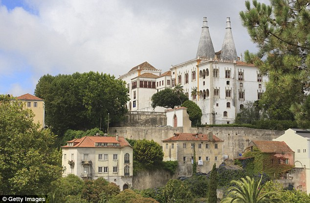 Hiding out: Wright was caught in the Portugese town of Sintra, above