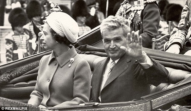 Uncomfortable: The Queen took  drastic steps to avoid meeting Romanian dictator Nicolae Ceausescu any more than necessary during his 1978 state visit