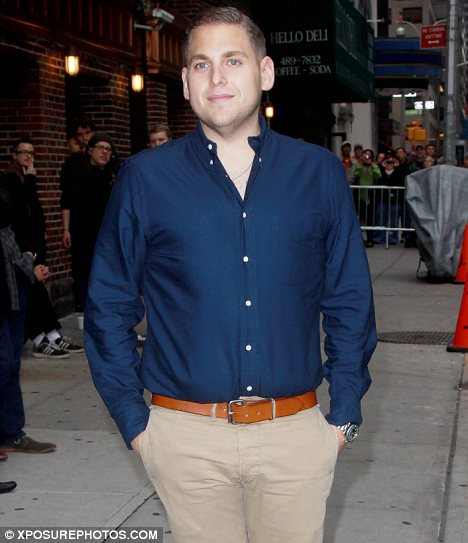 Something's different: Following Jonah Hill's weight loss which has seen him shed 40 pounds in less than a year, his ears appear bigger