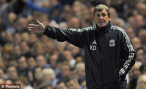 Return: Dalglish will take his Liverpool side to Goodison Park on Saturday