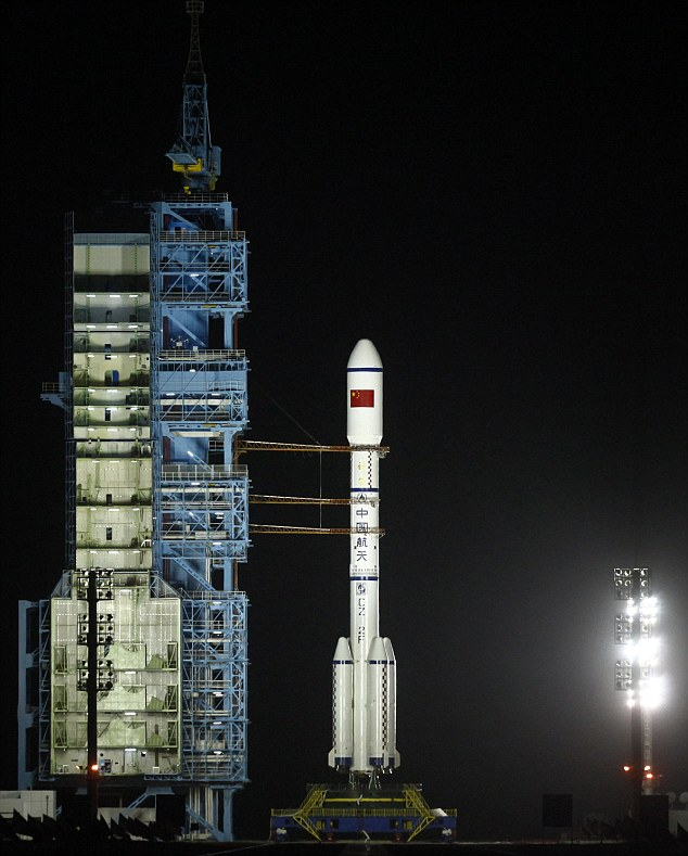 The space module is unmanned at present - but later this year, it will dock with a manned Chinese spacecraft, the first time China has attempted this