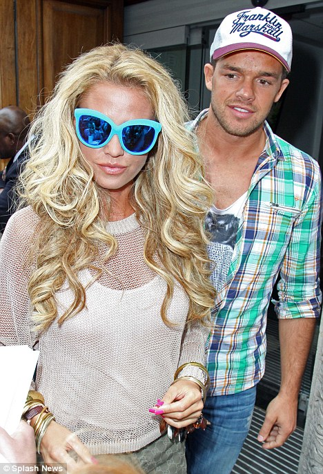 Not satisfied: Reports today have claimed that Katie Price split from Leandro Penna because he couldn't keep up with her in bed