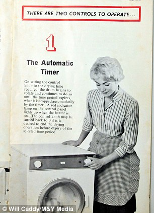 An advert for the Auto Dryer introduced in 1958