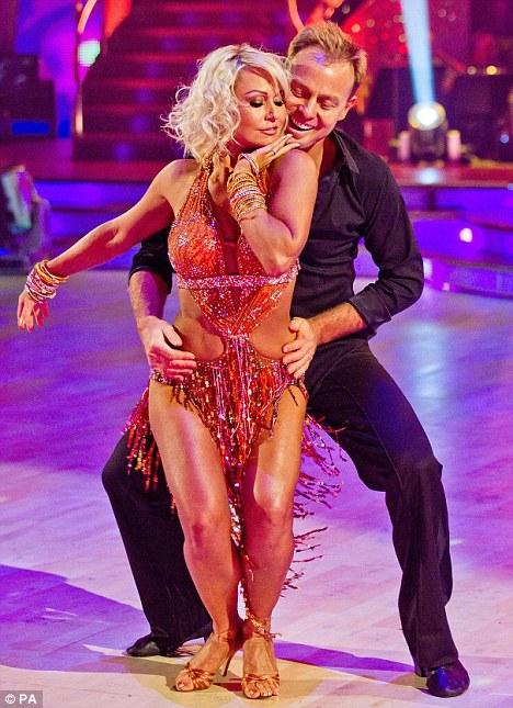 No wiggling allowed: Kristina Rihanoff had planned some sexy gyrations during her routine with Jason Donovan- but they were cut from the final dance