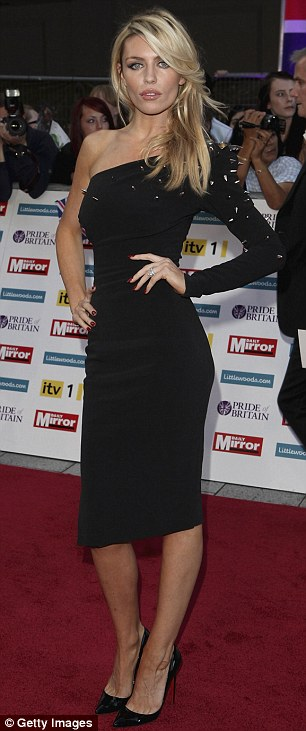 She shoots, she scores: England WAGS Abbey Crouch (left) and Coleen Rooney both opted for little black dresses with an edge