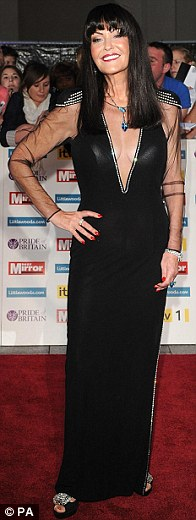 Any dress as long as its black: Tara Palmer-Tomkinson, EastEnder Shona McGarty and Dragon's Den star Hilary Devey all wore very different black dresses