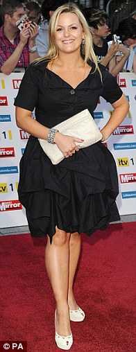 Back to black: Holly Willoughby wore a dress from her Very.co.uk range, Xtra Factor host Caroline Flack looked cute in a lacy number, while EastEnders actress Jo Joyner wore a black tiered number
