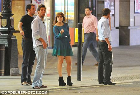 Where have all the taxis gone? Eugenie with Jack, right, and bodyguard in black, left