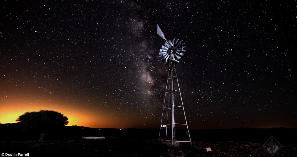 Star-gazing: Mr Farrell's photographs are just a powerful at night
