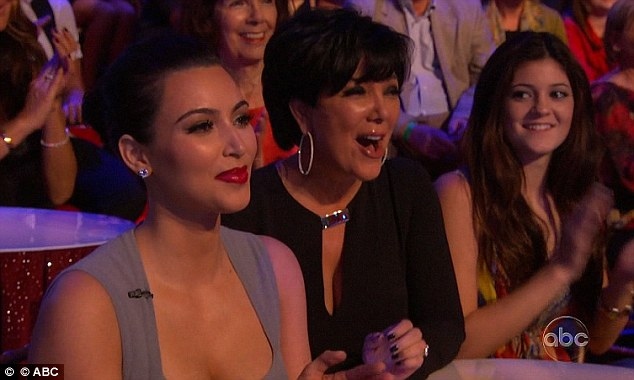 That's our boy!: Ron was cheered on by his mother and sisters as he is every week